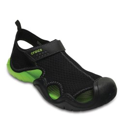 8-Crocs-Swiftwater-Sandal-Men-Black-Voltgreen